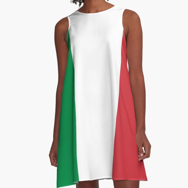 ITALY. ITALIAN. Italian Flag. FULL COVER, Flag of Italy, 'Bandiera d'Italia', Pure and simple. A-Line Dress
