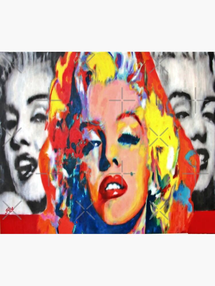 Marilyn Monroe | Colorful Marilyn Pop Art by Gascondi