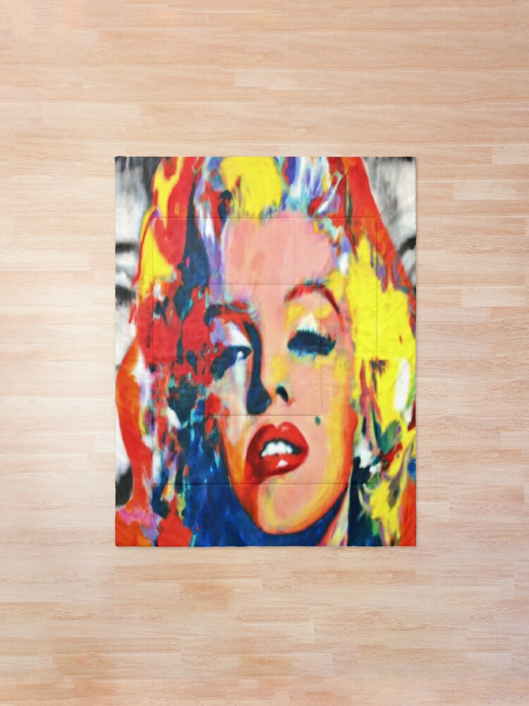 Alternate view of Marilyn Monroe | Colorful Marilyn Pop Art Comforter