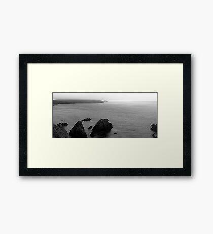 Misty Top Framed Print