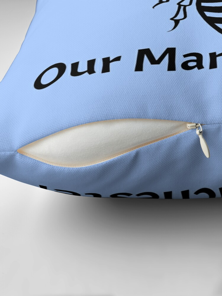 Alternate view of Our City, Our Manchester Bee Throw Pillow