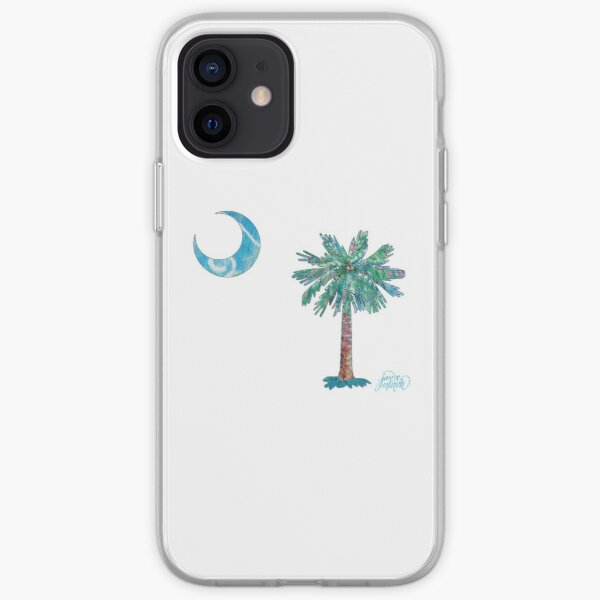 Palmetto Tree and Moon by Jan Marvin iPhone Soft Case