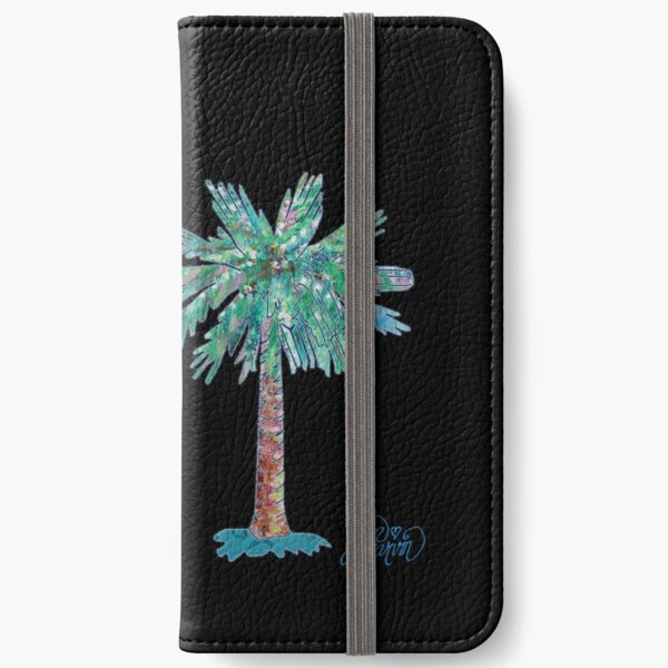 Palmetto Tree and Moon by Jan Marvin iPhone Wallet