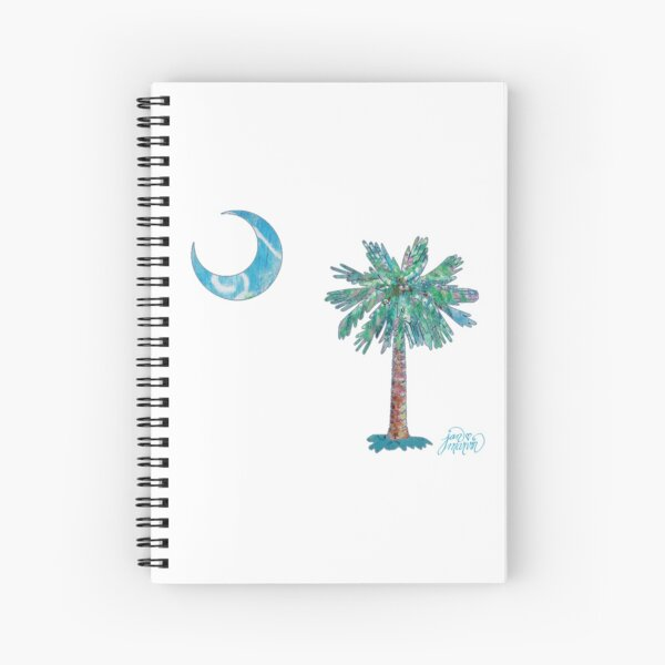 Palmetto Tree and Moon by Jan Marvin Spiral Notebook