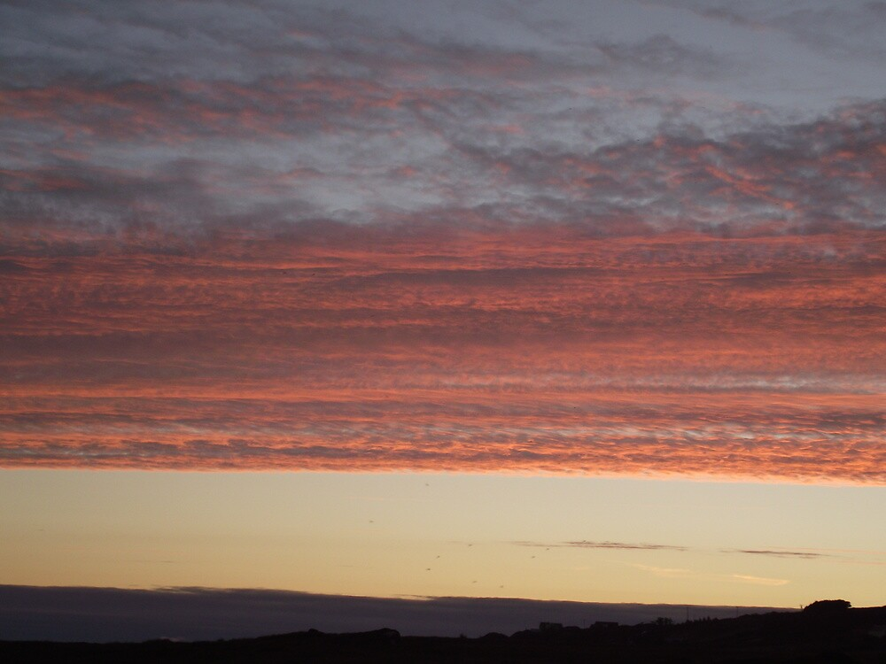 Red skies in Donegal,Ireland by paddymc