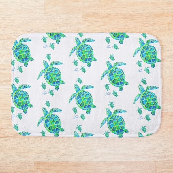 Sea Turtle with babies Bath Mat