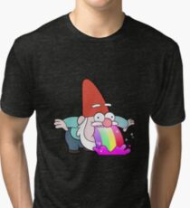 Rainbow Vomiting Gnome Tri-blend T-Shirt