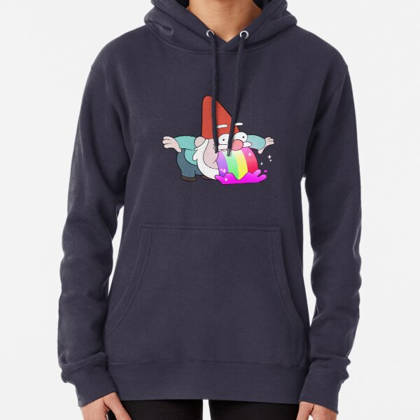 Rainbow Vomiting Gnome Pullover Hoodie