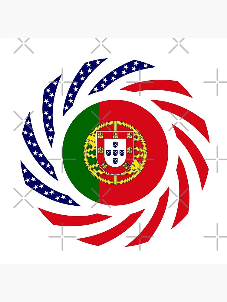 Portuguese American Multinational Patriot Flag Series by carbonfibreme