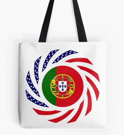 Portuguese American Multinational Patriot Flag Series Tote Bag