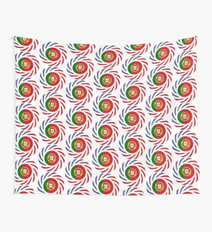 Portuguese American Multinational Patriot Flag Series Wall Tapestry