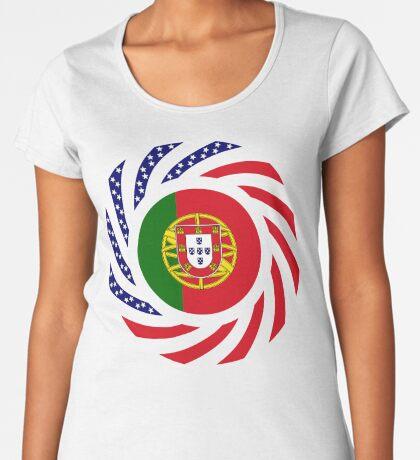 Portuguese American Multinational Patriot Flag Series Premium Scoop T-Shirt