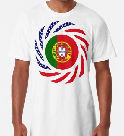 Portuguese American Multinational Patriot Flag Series Long T-Shirt