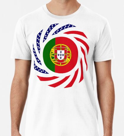 Portuguese American Multinational Patriot Flag Series Premium T-Shirt