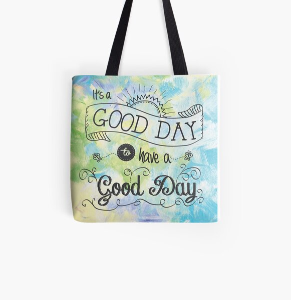 It's a Colorful Good Day by Jan Marvin All Over Print Tote Bag