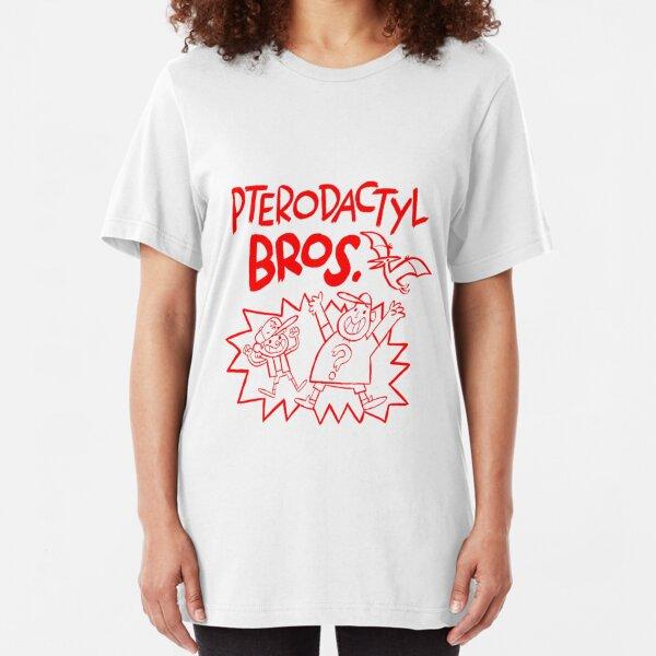 Pterodactyl Bros Slim Fit T-Shirt