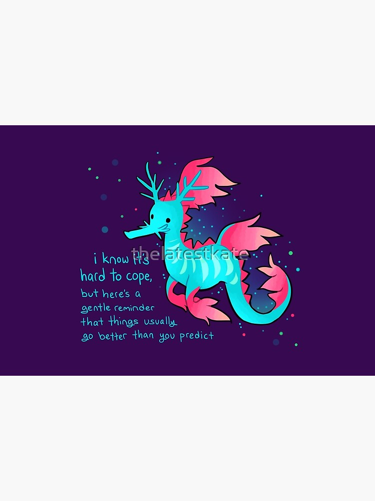 """""""Things Usually Go Better Than You Predict"""" Cute Sea Dragon by thelatestkate"""