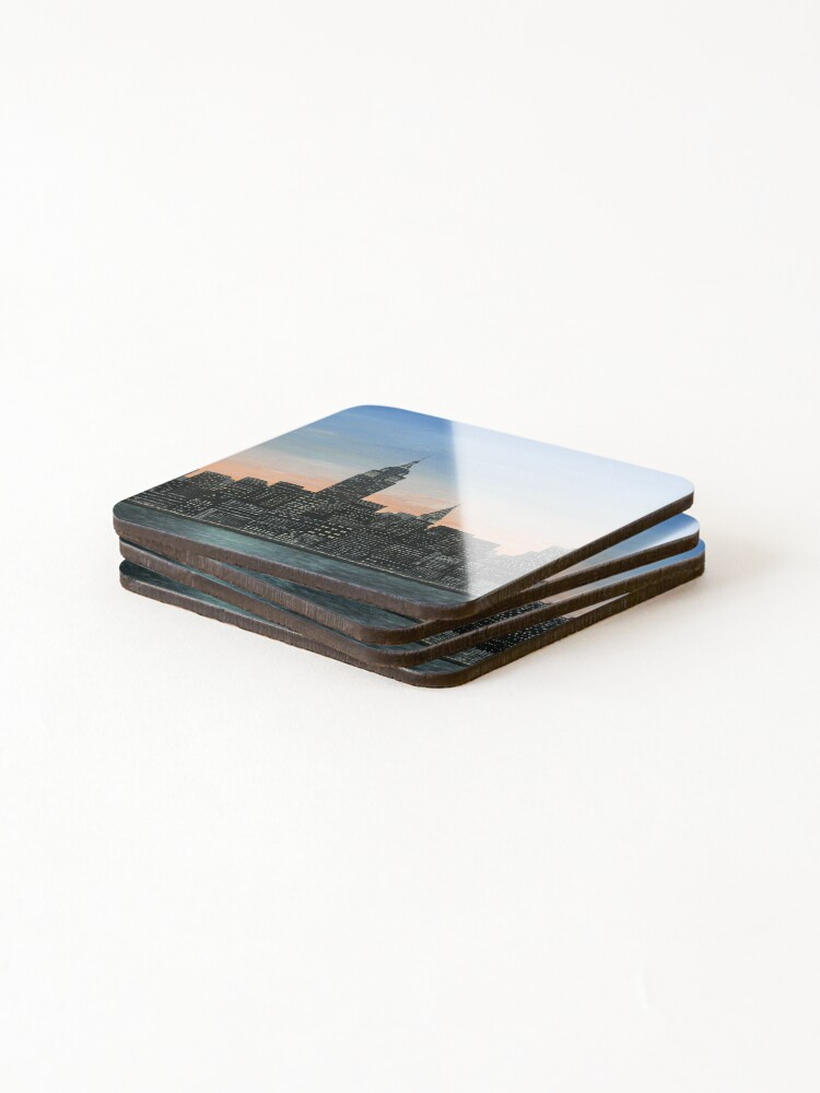 Alternate view of NYC Skyline Painting Coasters (Set of 4)