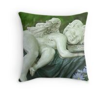 sleeping cherub Throw Pillow