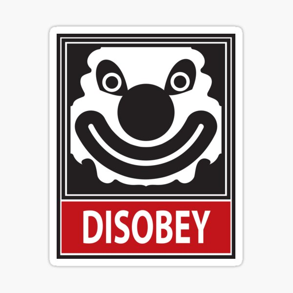 DISOBEY by Roley Sticker