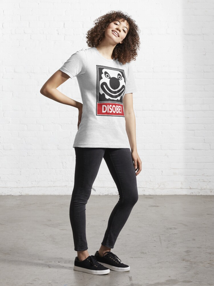 Alternate view of DISOBEY by Roley Essential T-Shirt