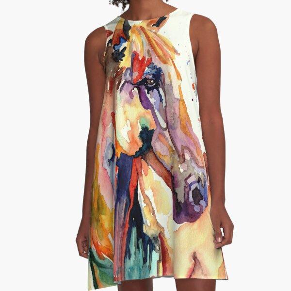 Rainy Horse A-Line Dress