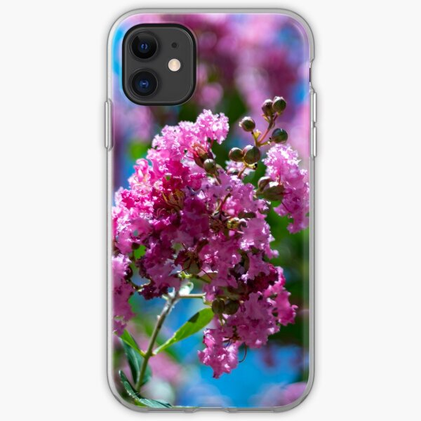 Pink Crepe Myrtle Tree Flowers iPhone Soft Case