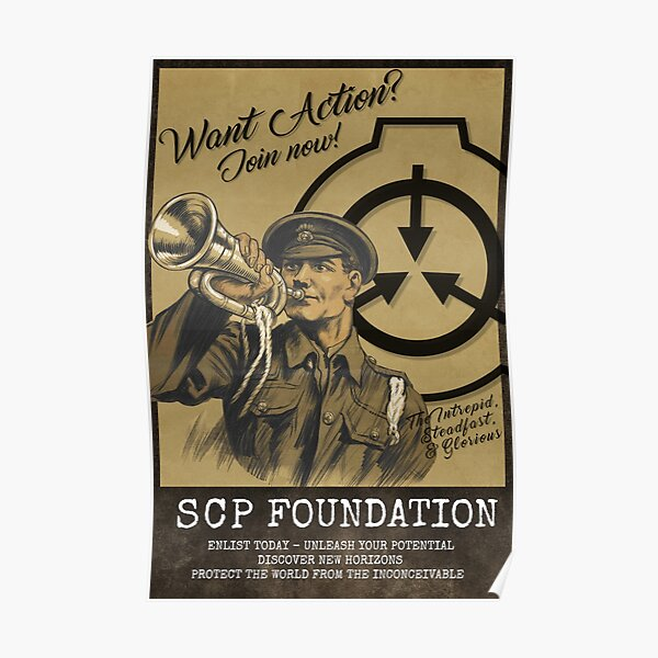 SCP Foundation Recruitment Poster Poster