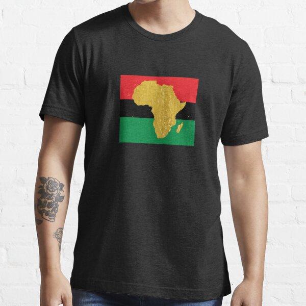 Gold African Symbol of Africa - Golden Pan African Flag Essential T-Shirt