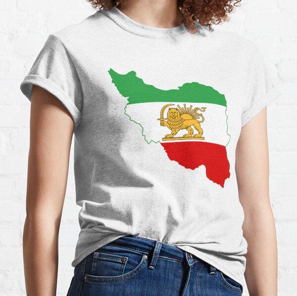 Flag Map of Iran, Iranian Flag, 1964-1980 Classic T-Shirt