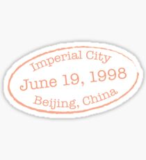 Imperial City China Sticker