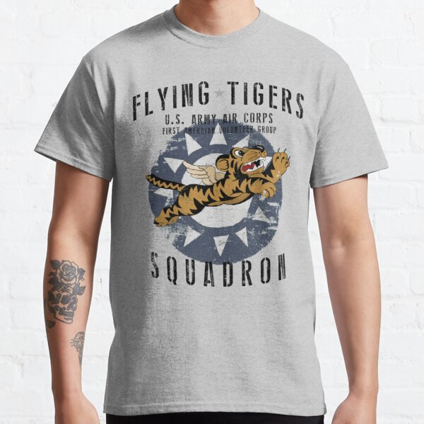 Flying Tigers Squadron US Army Air Corps WWII Vintage Classic T-Shirt