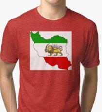 Lion & Sun Flag Karte von Iran Vintage T-Shirt