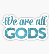 We Are All Gods | Blue Torus | Fractal Art Sticker