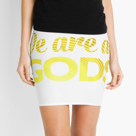 We Are All Gods | Natural Progression Toward Enlightenment | Fractal Art Mini Skirt