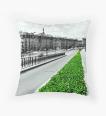 The green lung of the city Throw Pillow