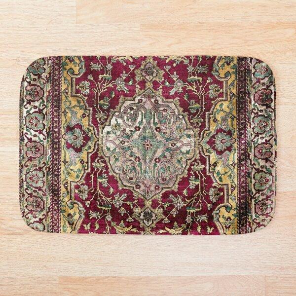 Farahan Arak West Persian Silk Rug Print  Bath Mat