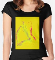Posed In Yellow Women's Fitted Scoop T-Shirt