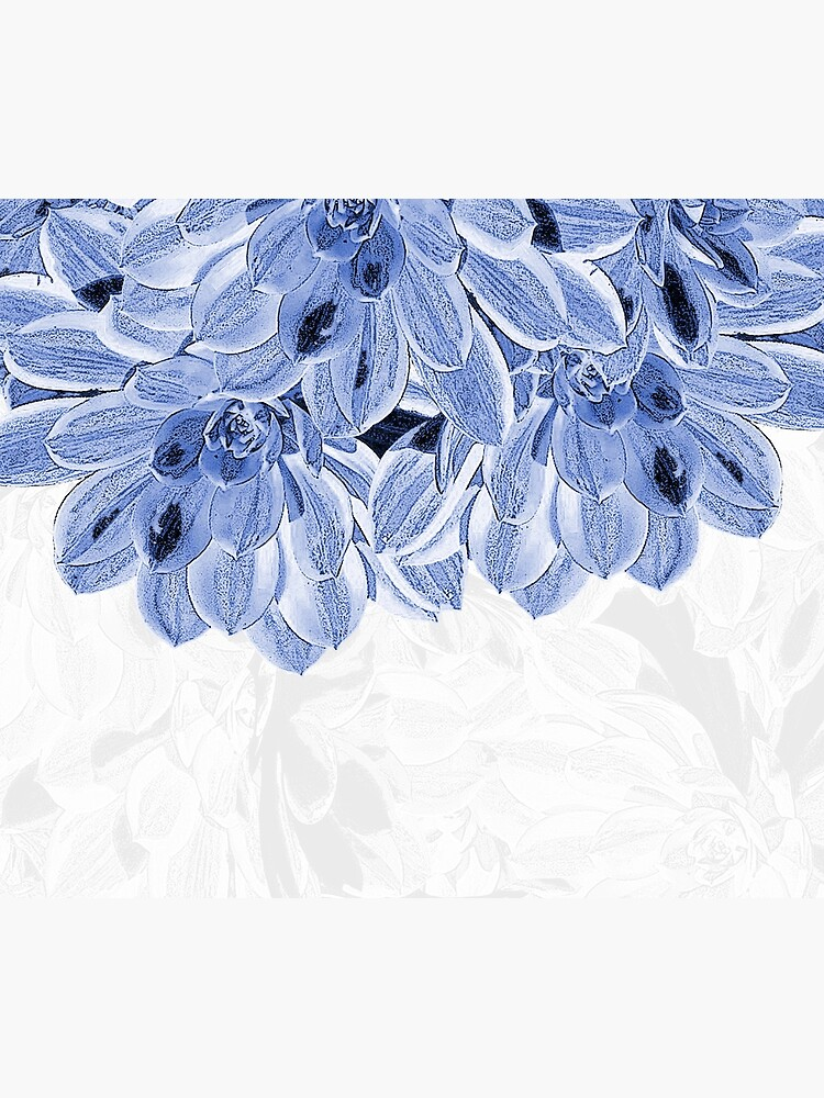 Elegant Blue Flowers Design by oursunnycdays