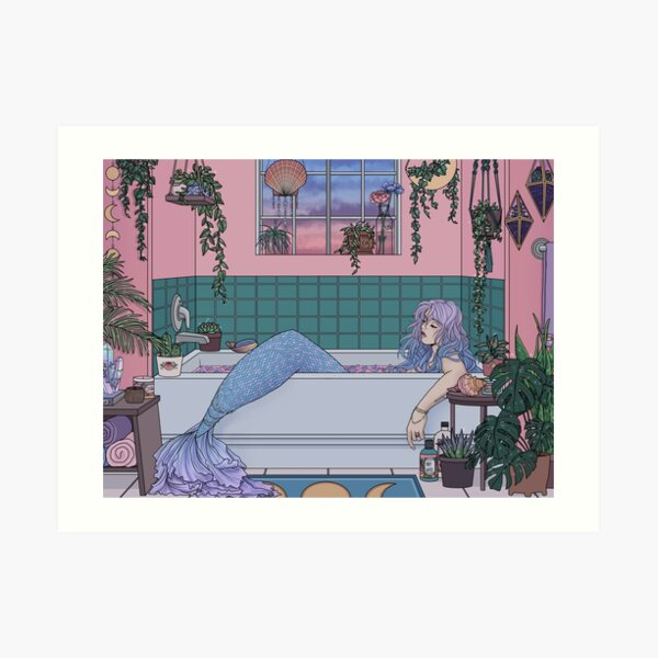 Urban Mermaid Art Print