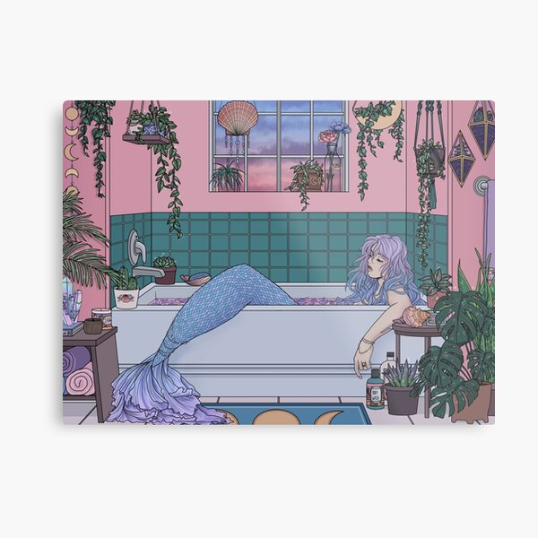 Urban Mermaid Metal Print