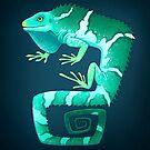 Fiji Crested Iguana by Tami Wicinas