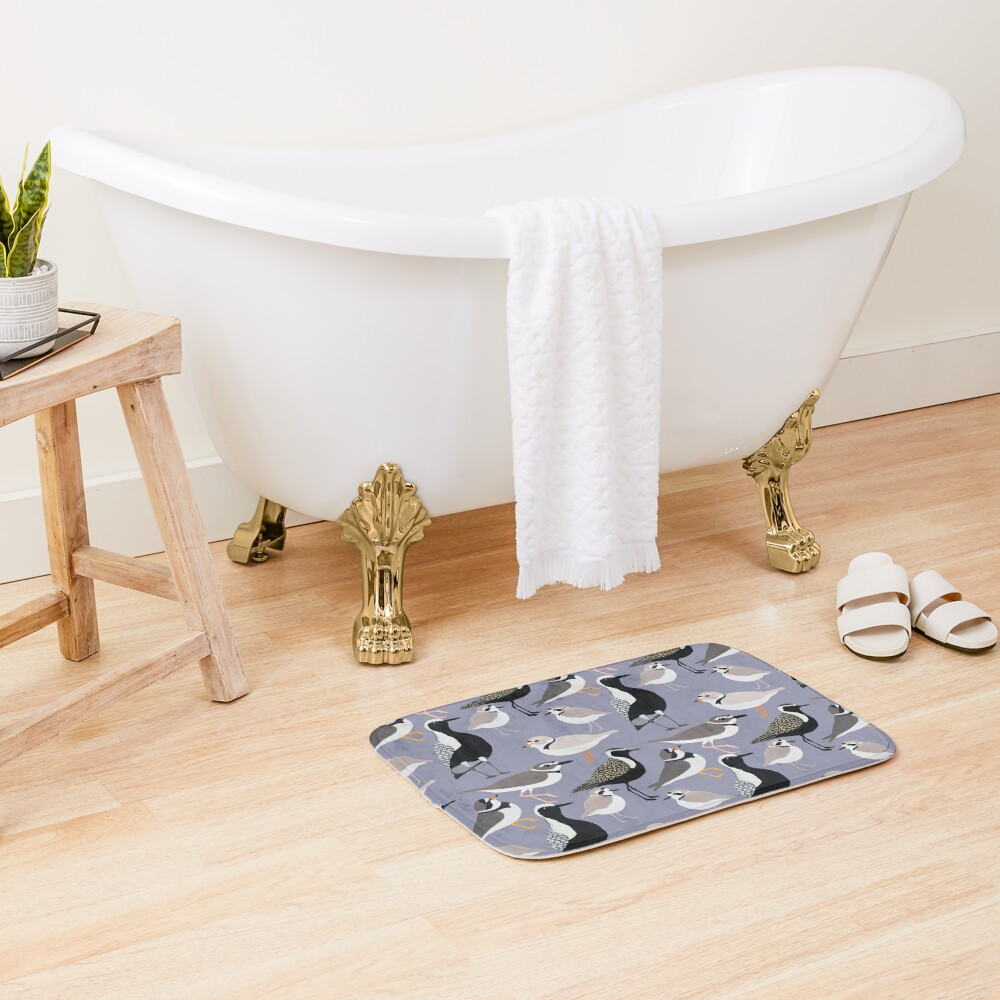 Plethora of Plovers Bath Mat