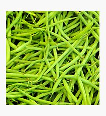 String Beans Photographic Print