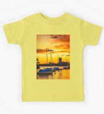 Anchored in gold Kids Tee