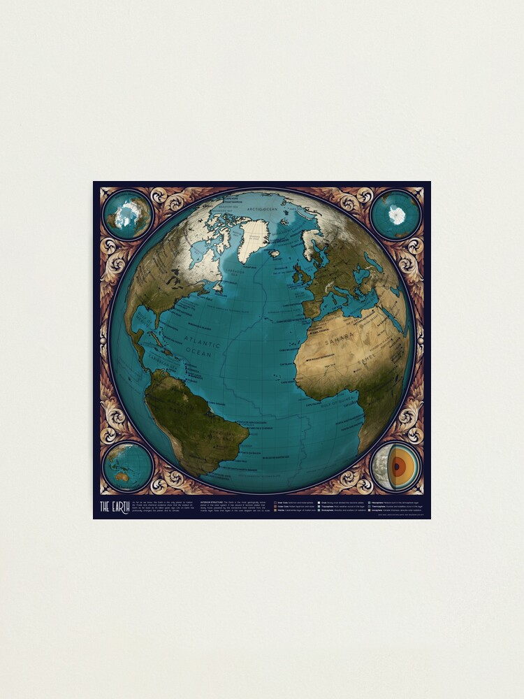 Alternate view of The Earth Photographic Print