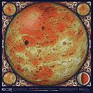 A Topographic Map of Mercury by Eleanor Lutz