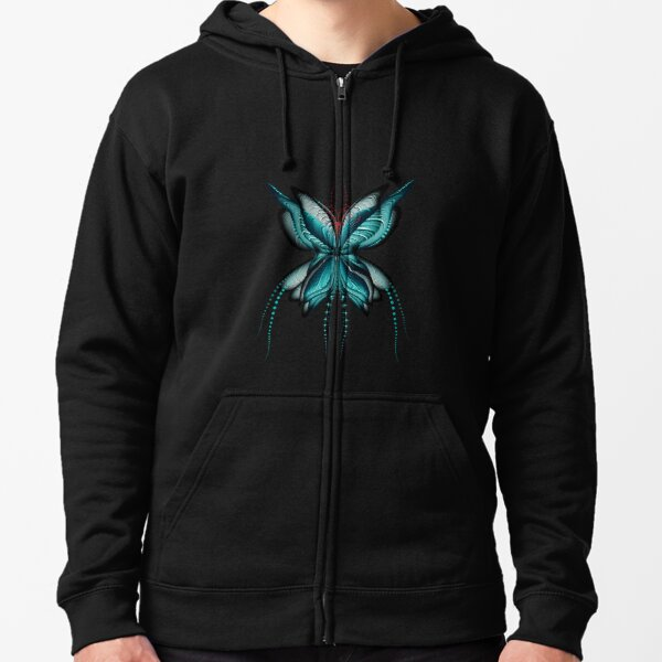 Clam Butterfly Zipped Hoodie
