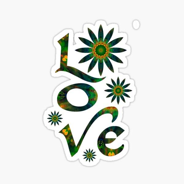 Love in Green Sticker
