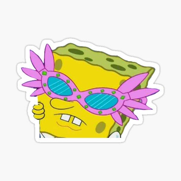 Lunettes Spongebob Pink Sticker